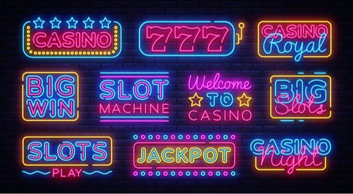 Neon slots icons